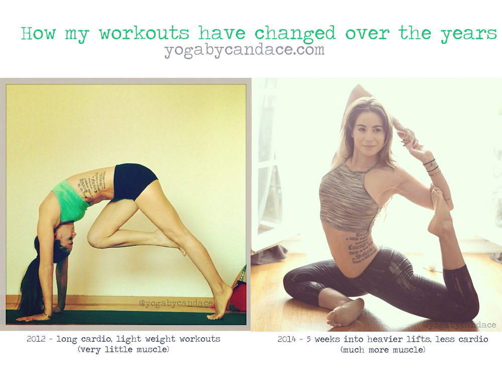 How changing workouts changed my body.