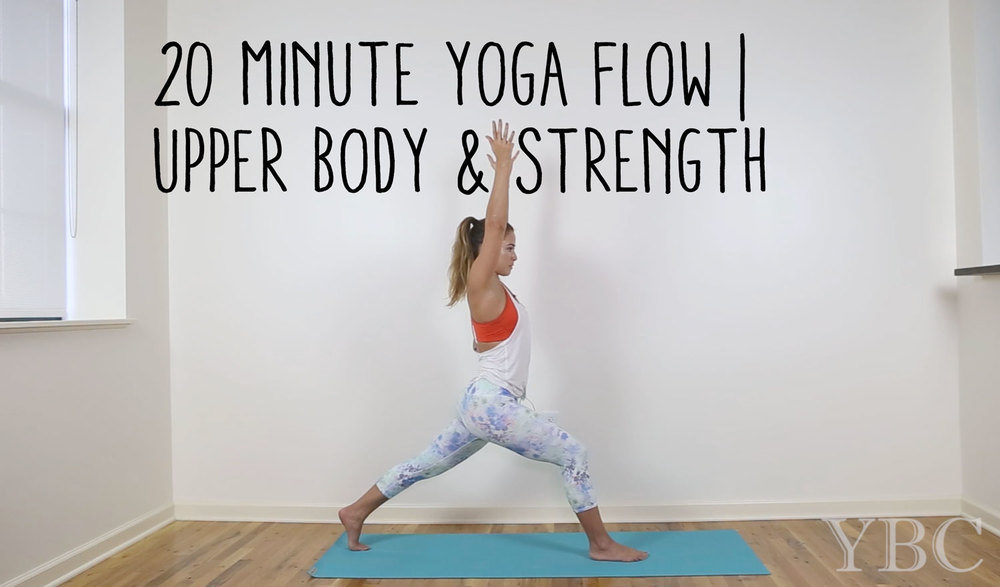 Pin now, practice later - 20 minute yoga flow for upper body and strength building Wearing: Alo yoga pants, forever 21 tank (similar), athleta bra (similar). Using: jade yoga mat.