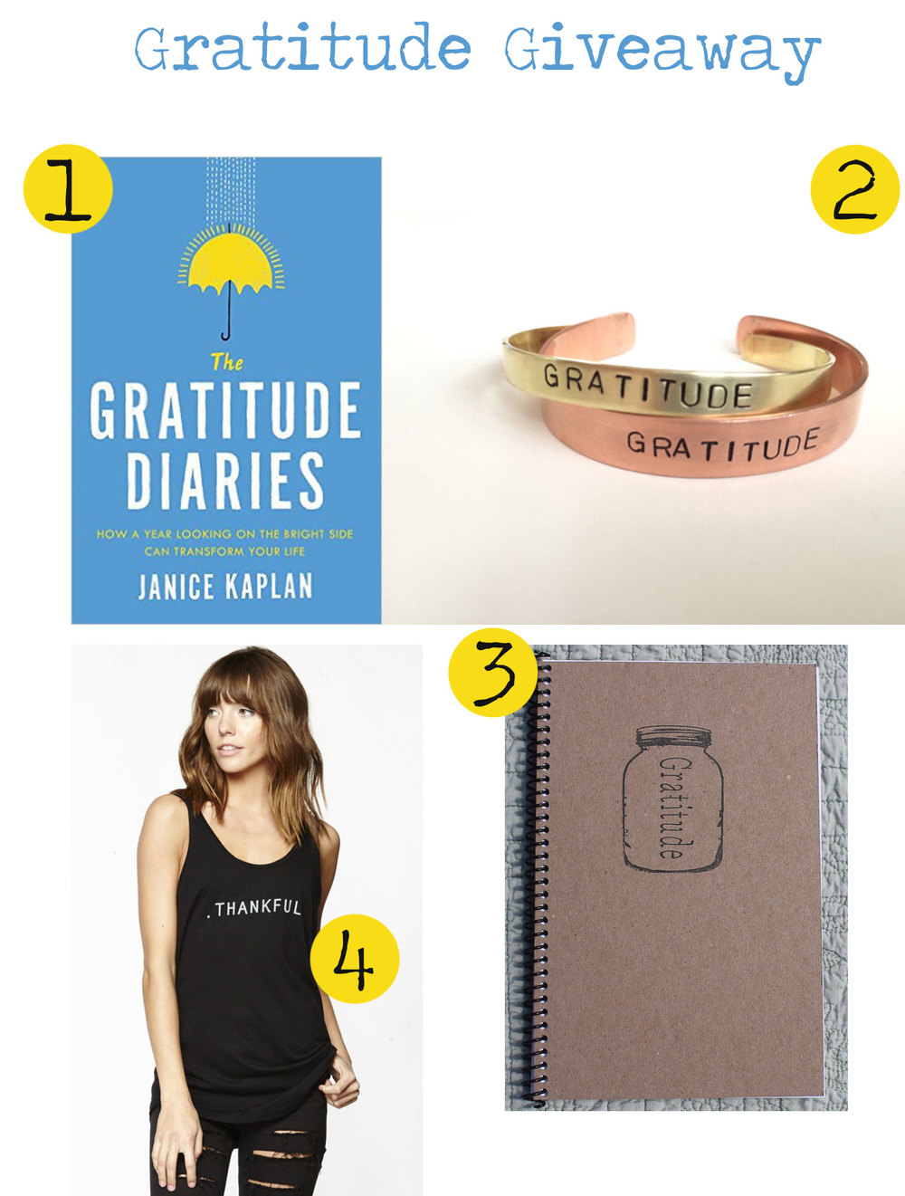 Pin now and enter to win this gratitude giveaway