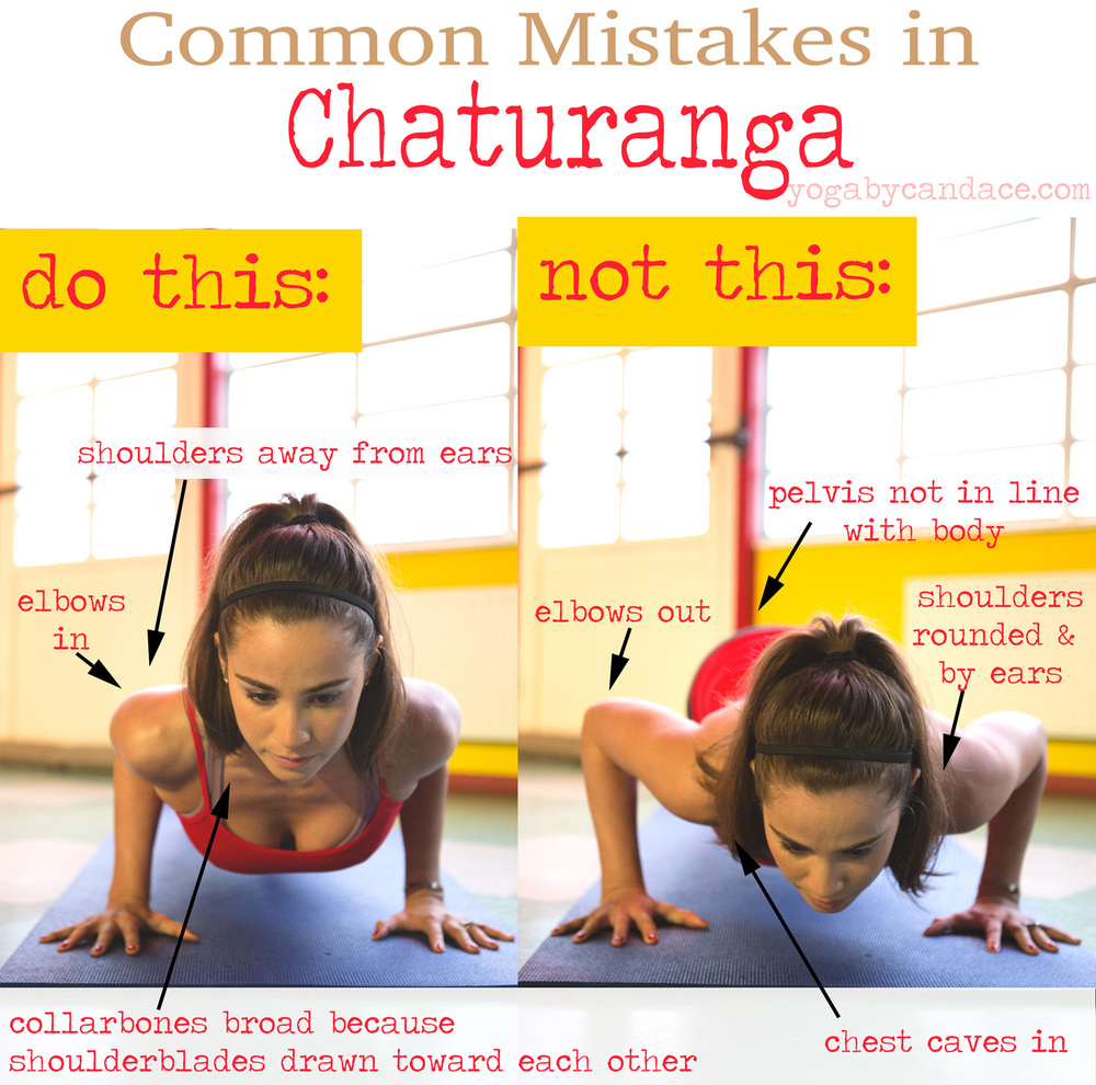 Pin it! Alignment for chaturanga