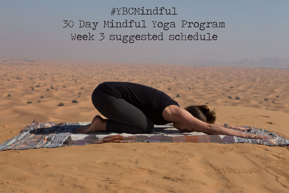 Pin now, practice later. #YBCmindful - free 30 day mindful yoga program