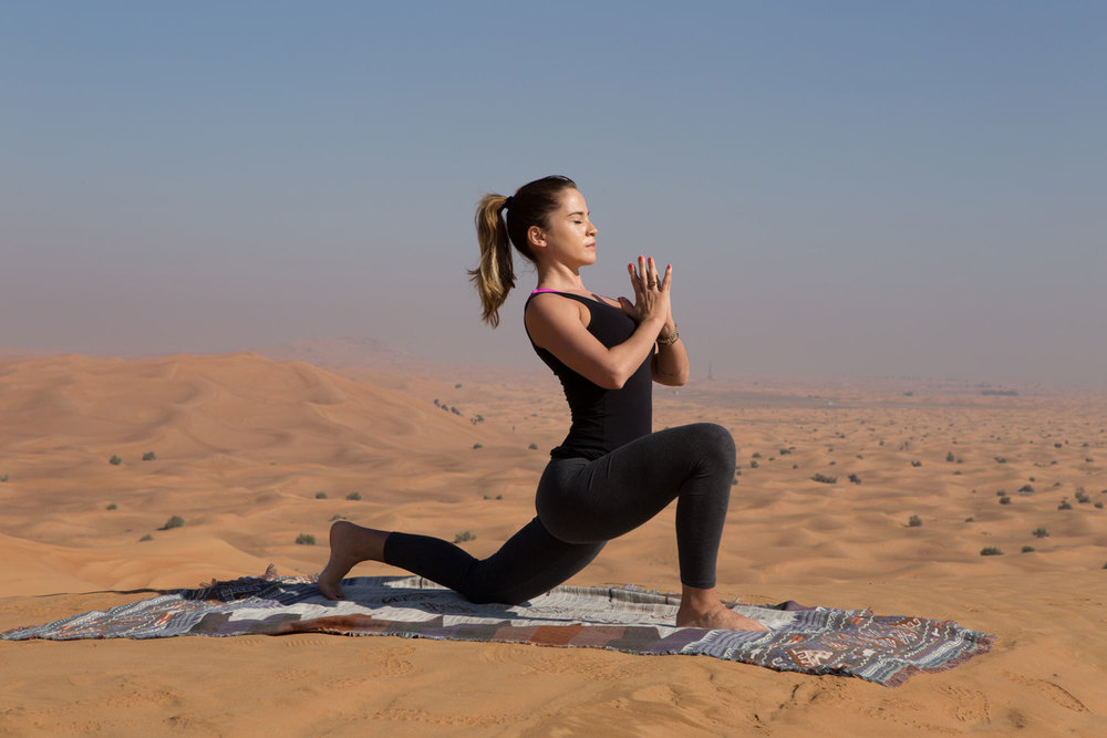 Pin now and join in the 30 Day Mindful Yoga Program for free! Picture from my trip to Dubai.
