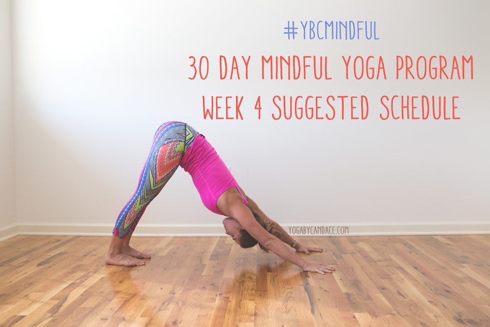 Pin now, and join in the free 30 day mindful yoga program. Wearing: Onzie pants c/o, lululemon tank.