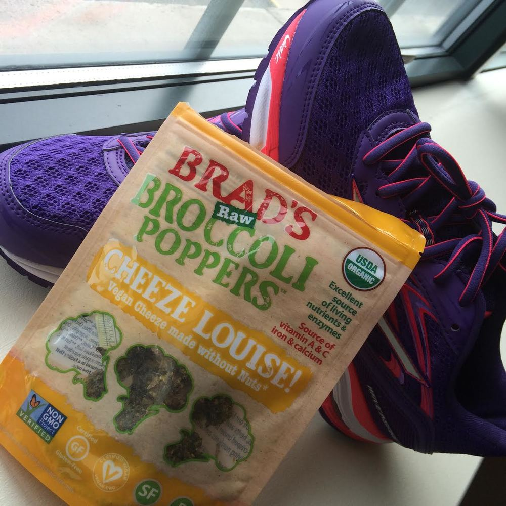 New discovery - broccoli poppers. Pictured with: Mizuno sneakers