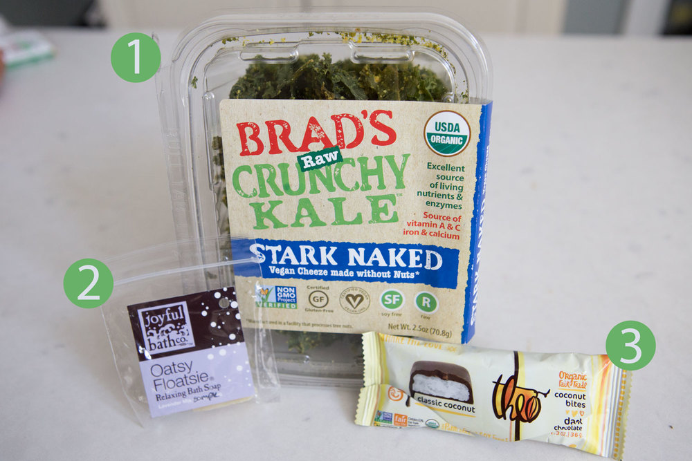 Favorites from ExpoEast   kale chips , bath soap,  peanut butter cups  except they're coconut cups!