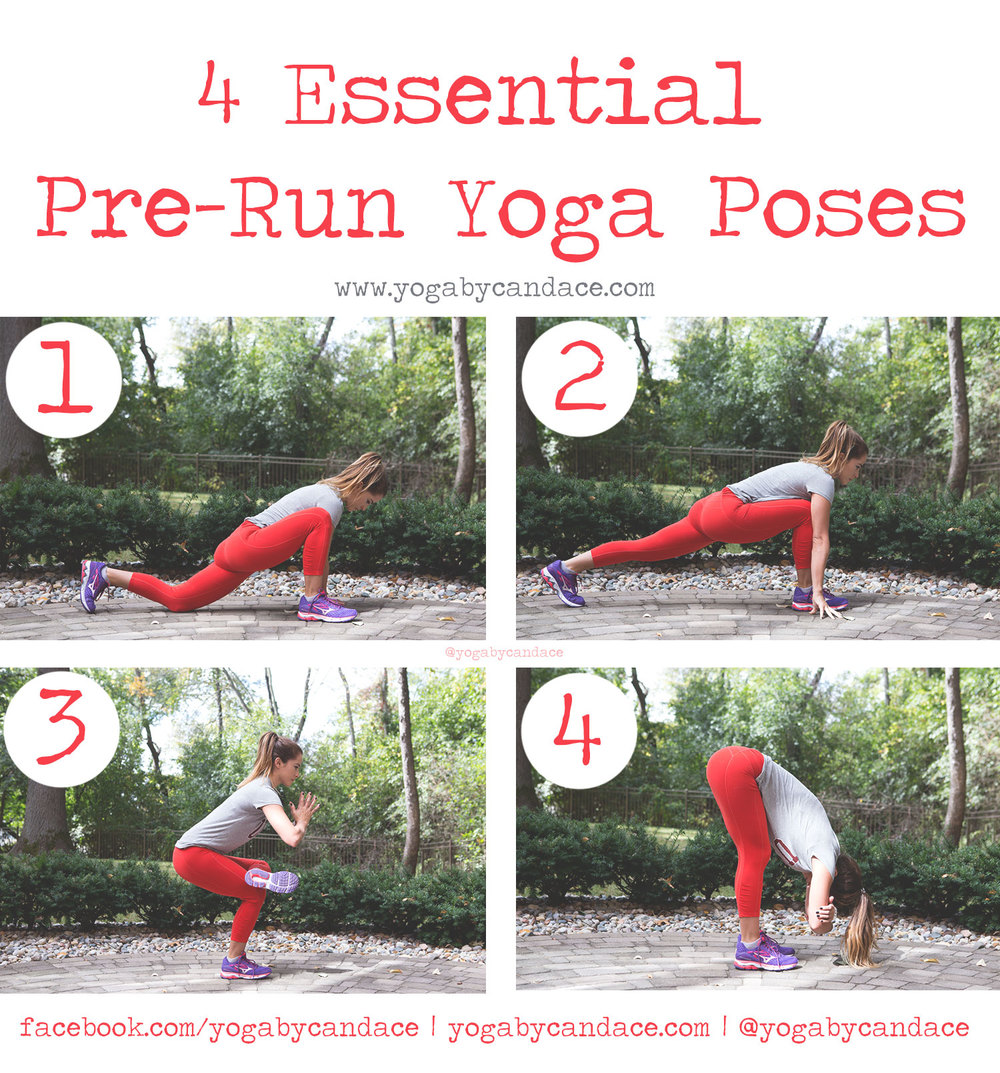 Pin now, practice later - pre-run yoga poses.