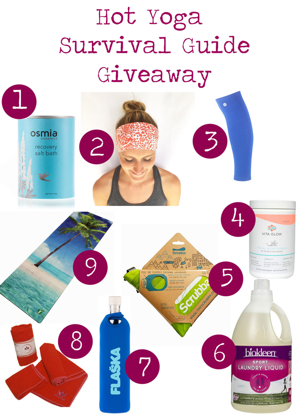 Pin now and enter to win this great hot yoga survival giveaway