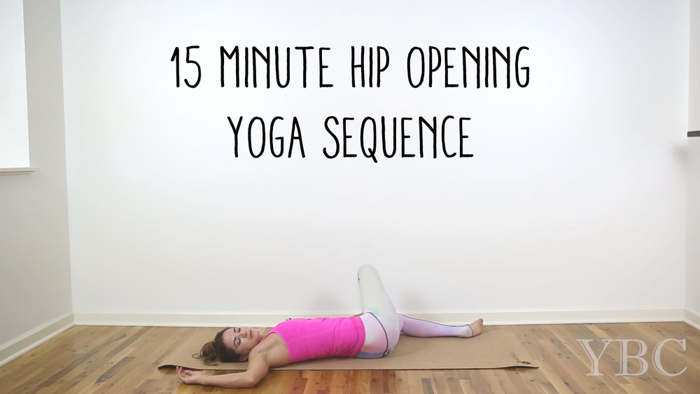 Pin now, practice yoga later - 15 minute hip opening yoga sequence  Wearing:  teeki pants . Using:  cork yoga mat .