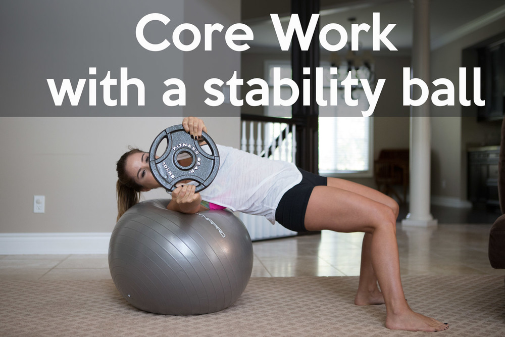 Pin now, practice later - core work with a stability ball