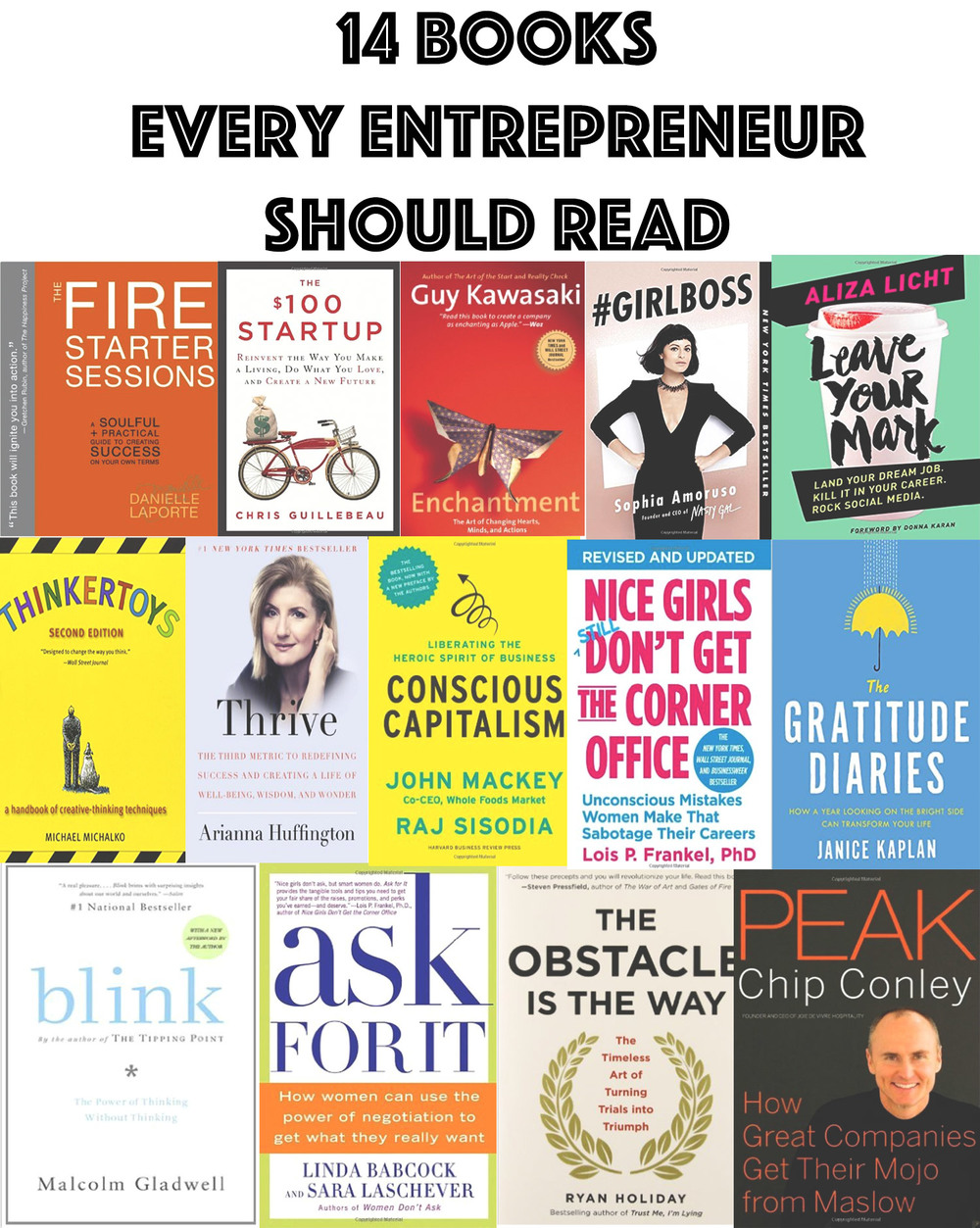 Pin now, read later! 14 books every entrepreneur should read.