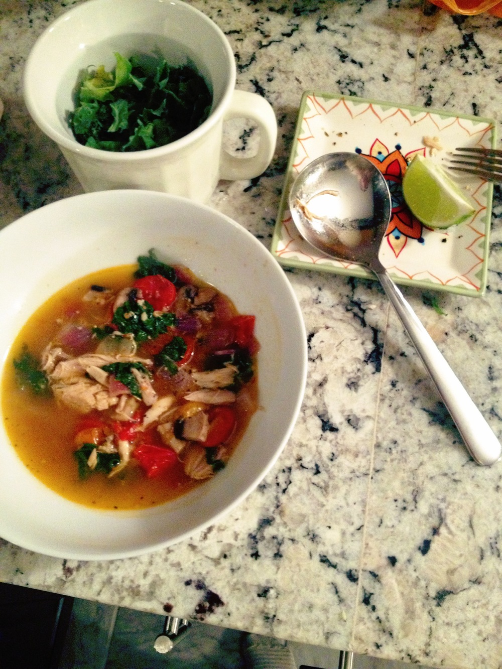 Turkey broth soup
