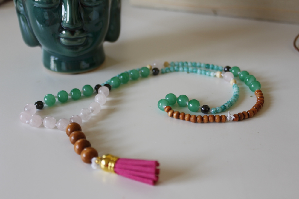 diy mala necklace