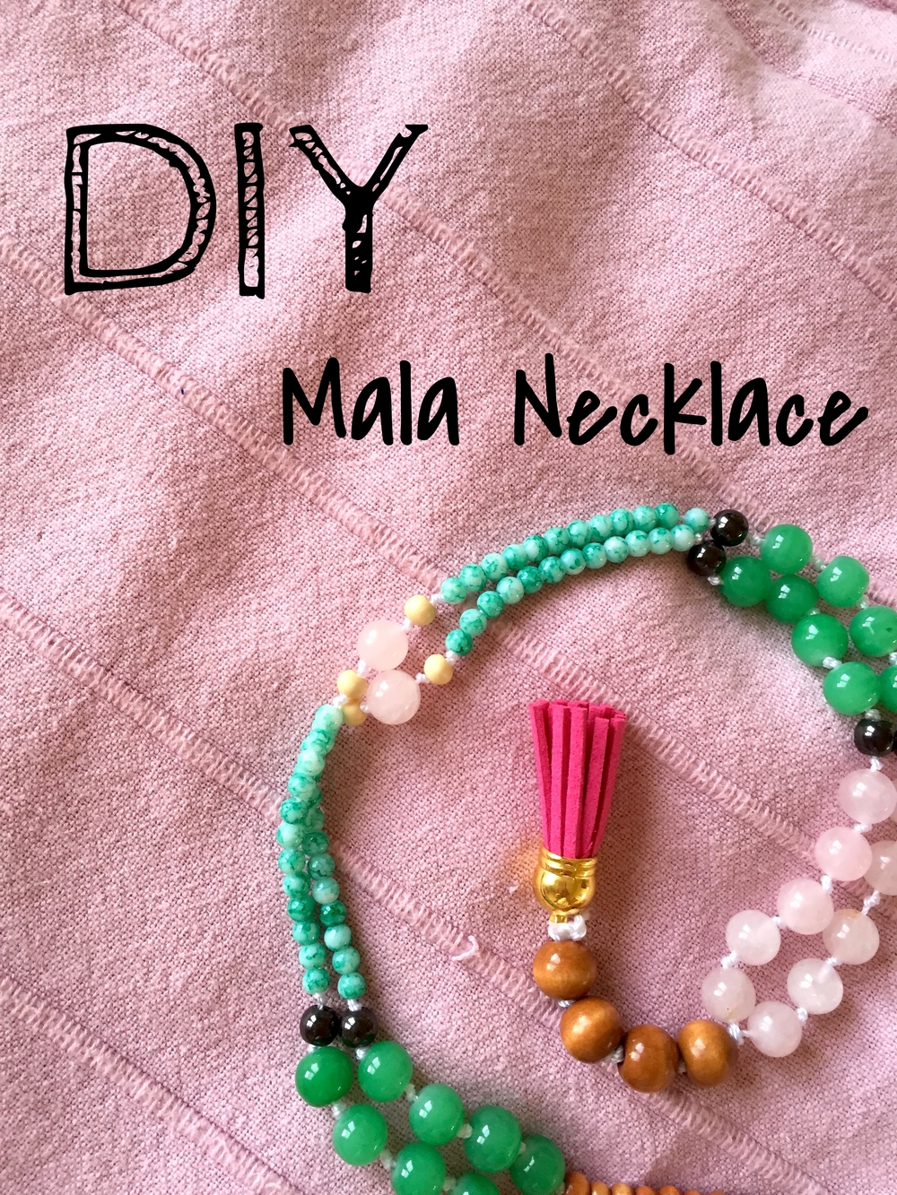 pin now, DIY later - Mala bead necklace