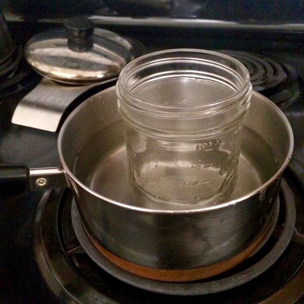 Step one - double boiler