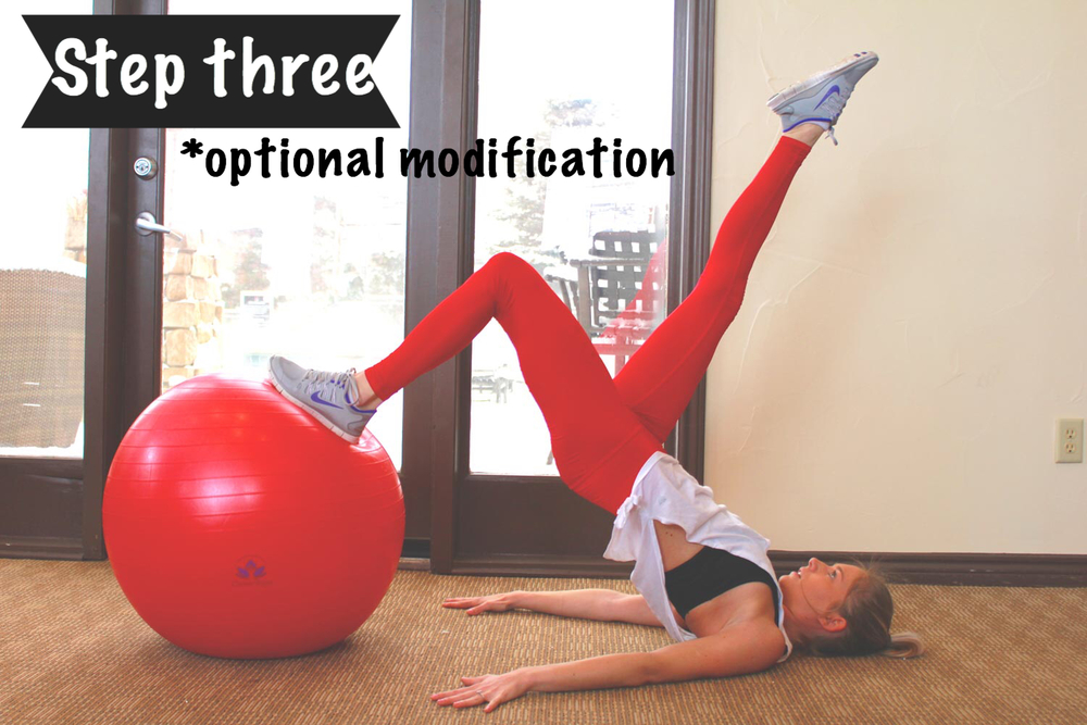 Stability Ball Routine: Bridge Up