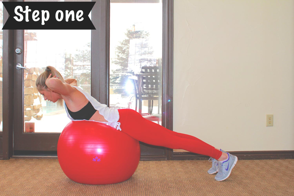 Stability Ball Routine: Back Extension
