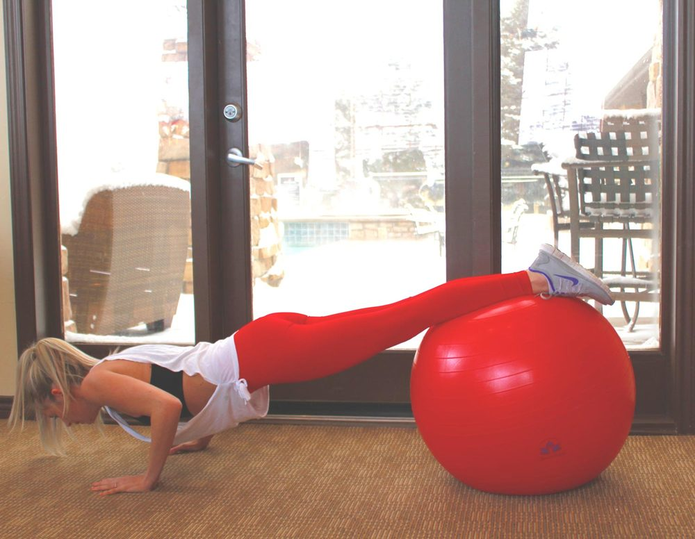 Stability Ball Routine: Push-Up to Plank
