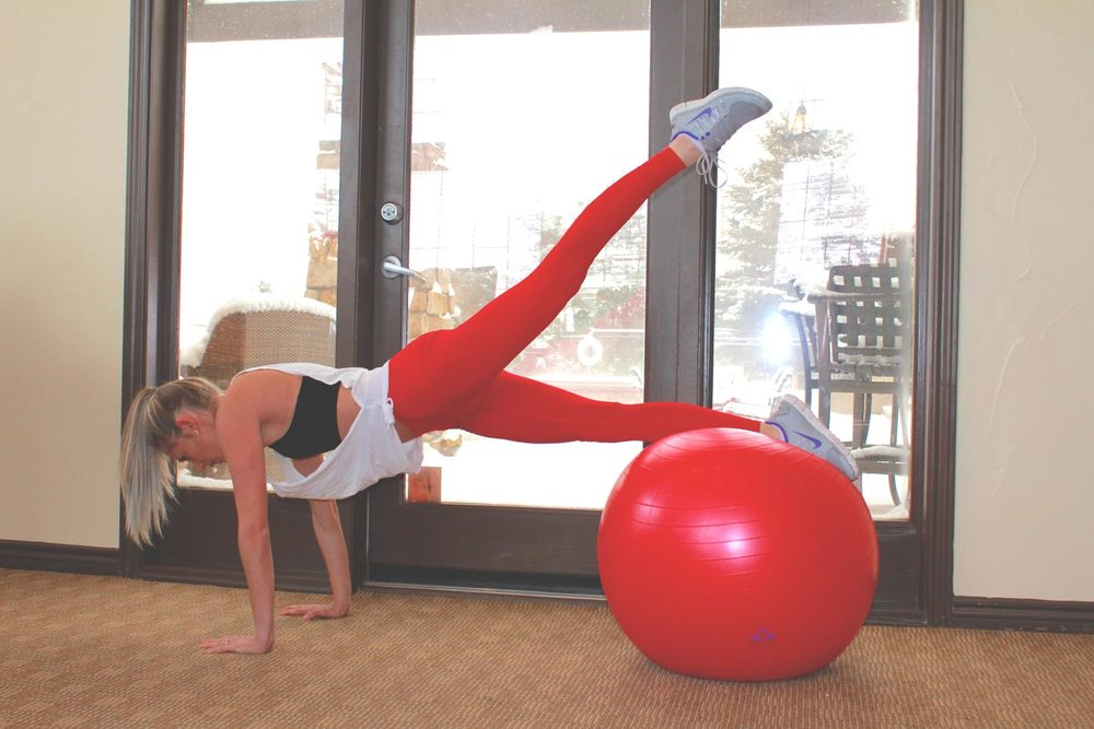 Stability Ball Routine: Single Leg Lift