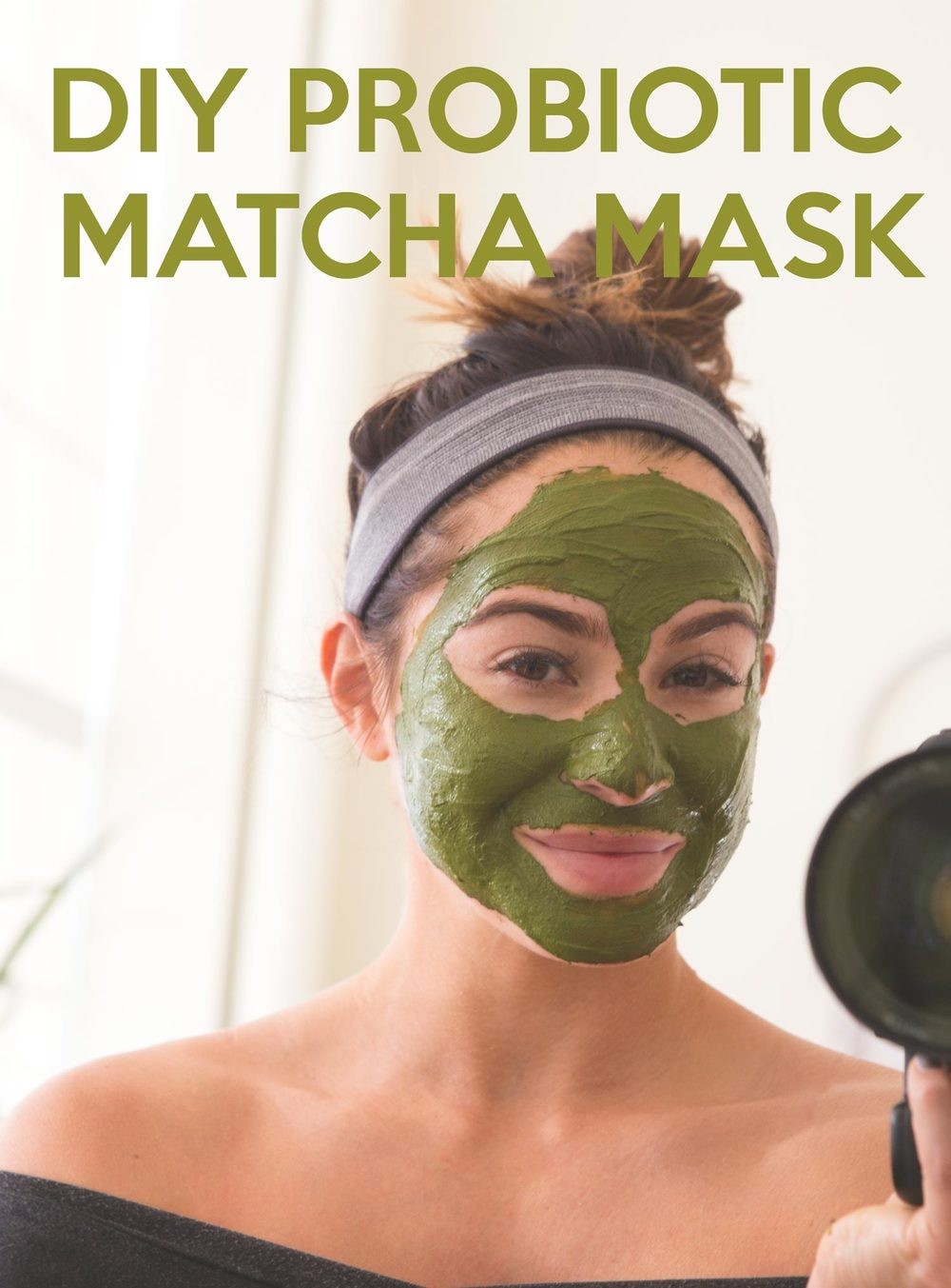 Pin it! DIY Probiotic Matcha Mask