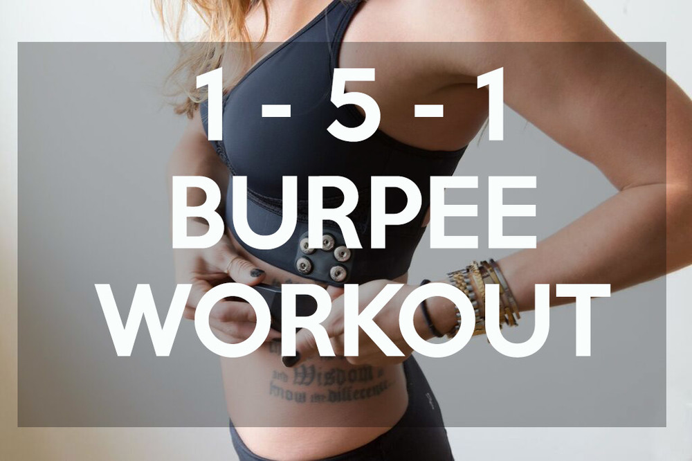 Pin it! Burpee workout - quick and effective.