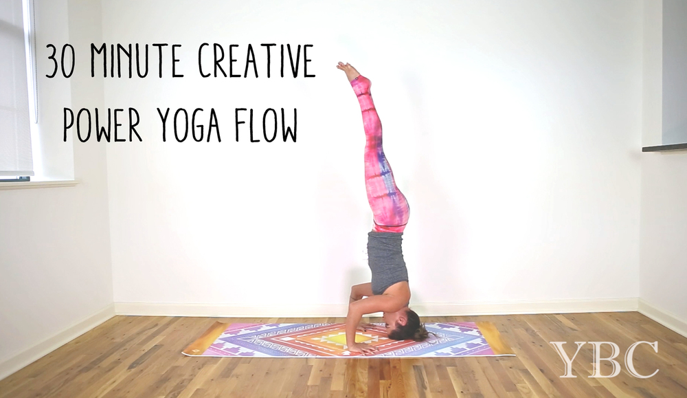 Pin now - 30 minute creative power yoga flow