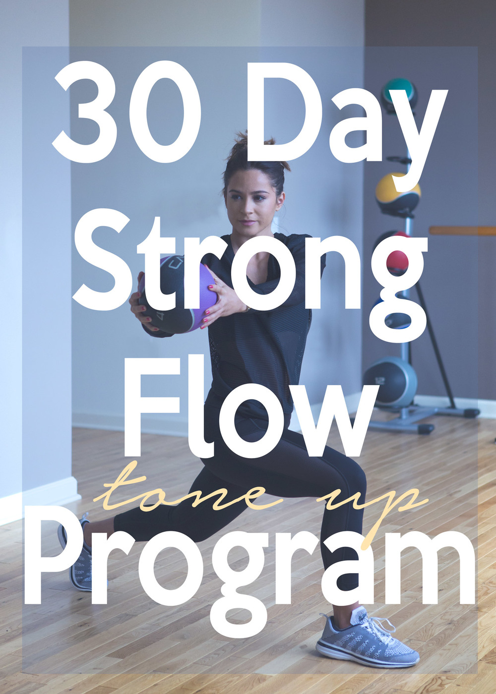 Pin now, and join in on the 30 day strong flow tone up yoga and hiit program  Wearing:  Michi pants ,  Lanston top  c/o Carbon 38,  APL sneakers   Photos by  J. Grundman Photography