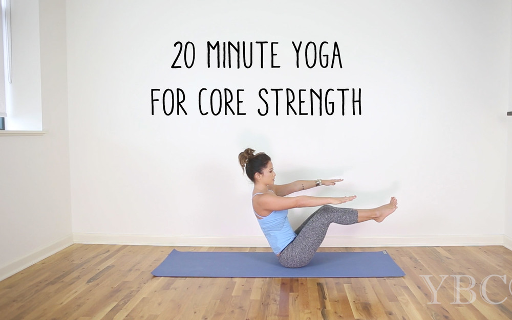 Pin now, and practice later! 20 Minute video for core strength  Wearing:  Beyond Yoga Capris ,  Sweaty Betty top  c/o. Using:  Jade Yoga Mat .