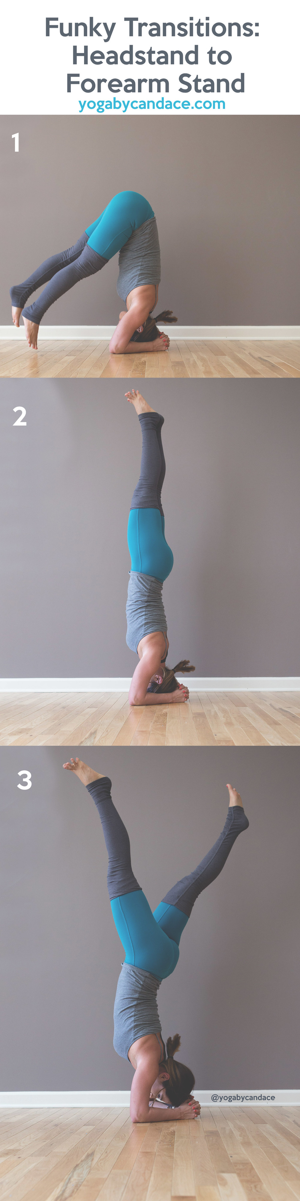Pin now and practice later - funky transition from headstand to forearm stand
