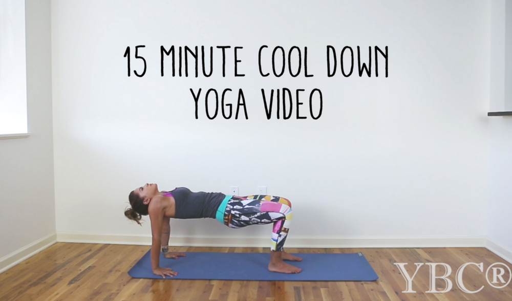 Pin now, practice later! 15 minute cool down yoga video