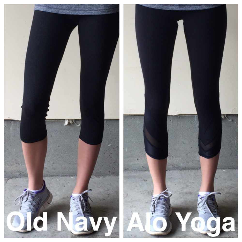 Do you get what you pay for? Alo Yoga vs. Old Navy Active