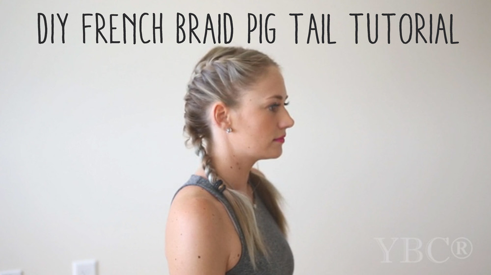 Pin now, practice later! French Braid Pig Tail Tutorial  Wearing:  Pink and Sandy lipstick ,  dress .