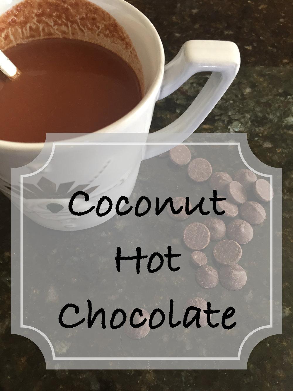 DIY: Coconut Hot Chocolate