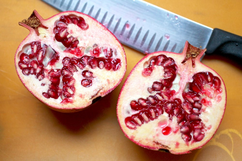 Pomegranates are a wonderful fruit to eat in the autumn; its arils give this oatmeal a great juicy burst with each bite!