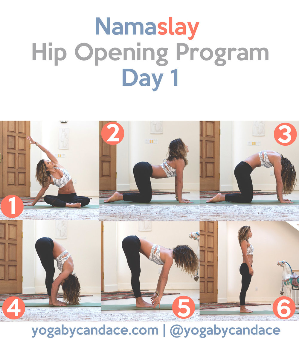 Day 1 - Namaslay hip opening yoga program