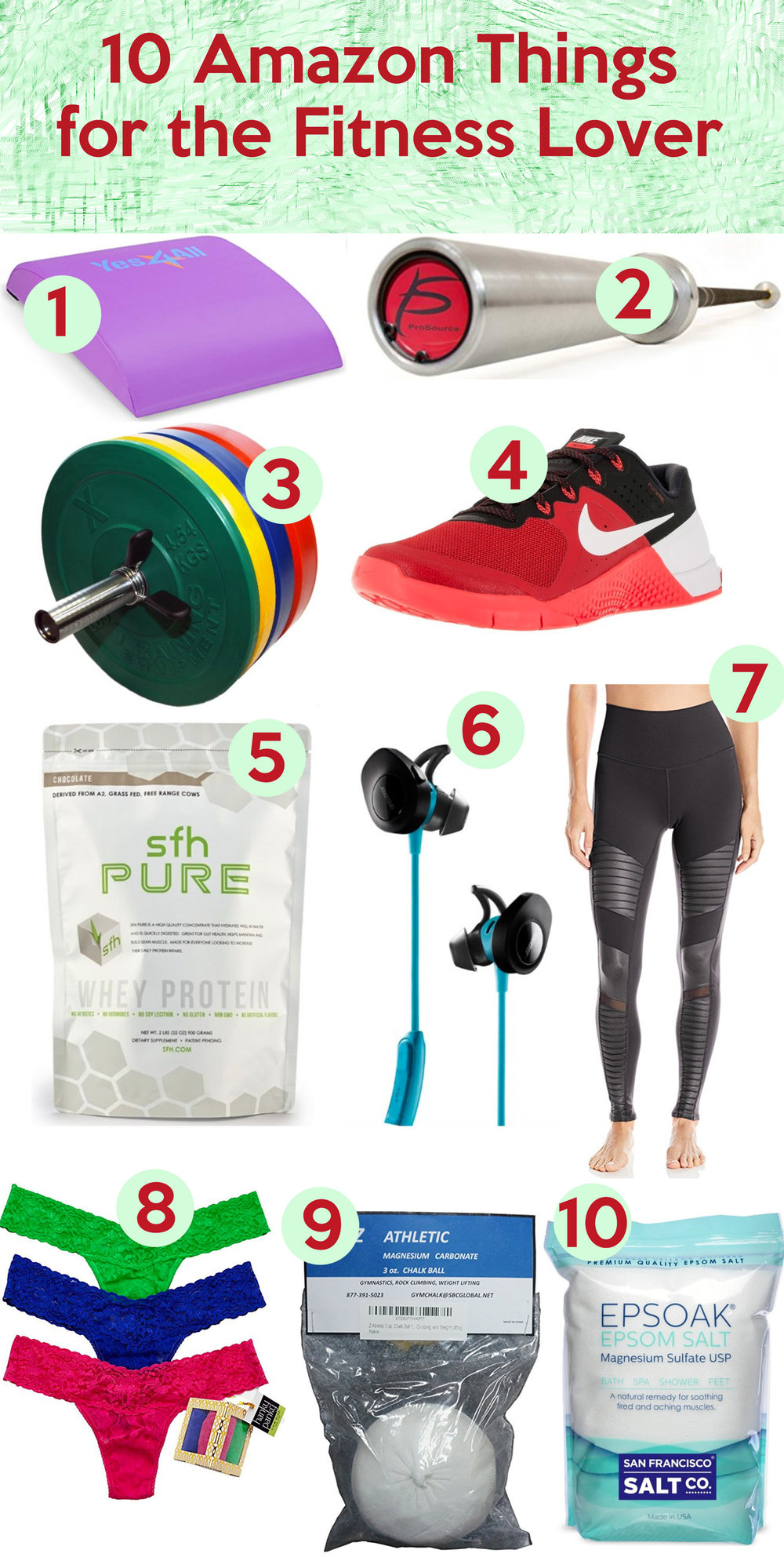10 gifts on Amazon for the fitness lover