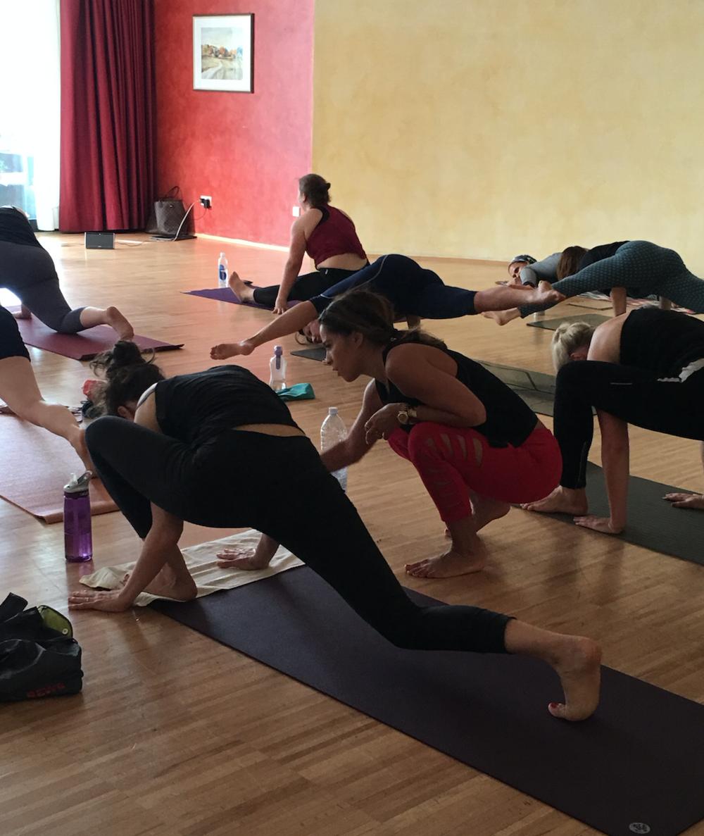 Arm balance practice