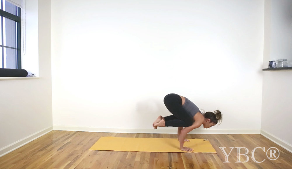 Pin now, practice later - how to jump back from crow pose