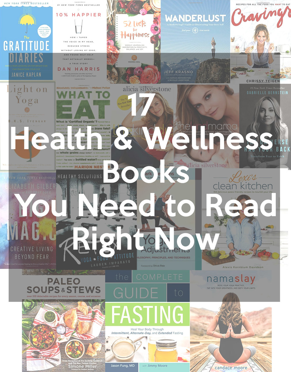Follow us on Pinterest  and pin this image for easy reference later - 17 Health and Wellness Books you Need to Read Right Now