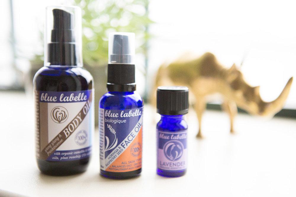 Blue Labelle organic skincare line