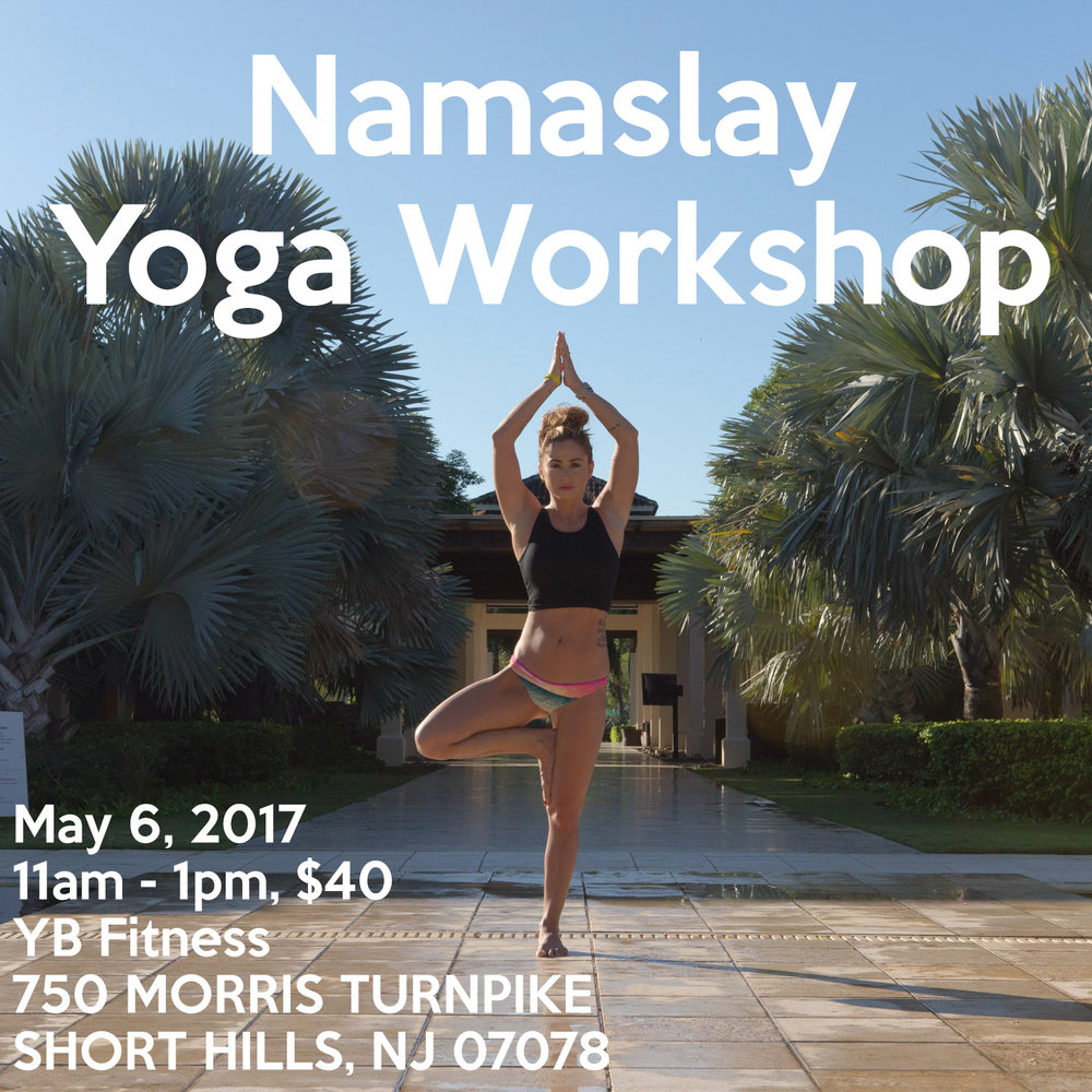 Namaslay yoga workshop in Short Hills, New Jersey