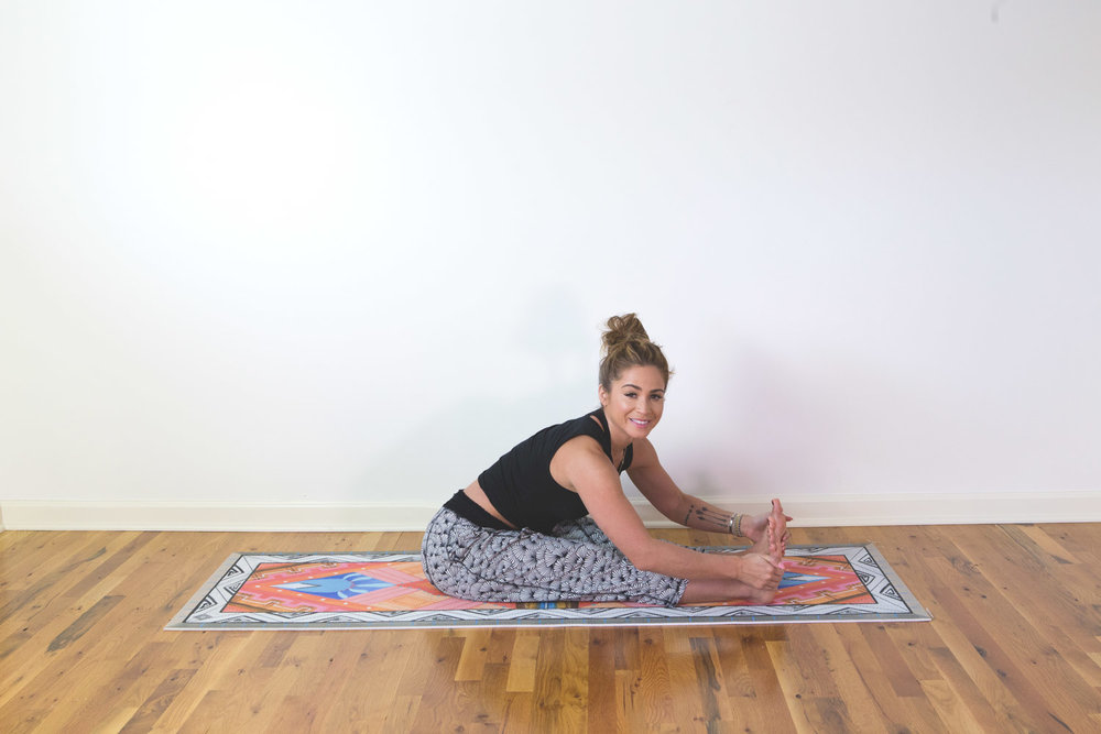 A 20 minute slow, stretching, hatha style yoga video