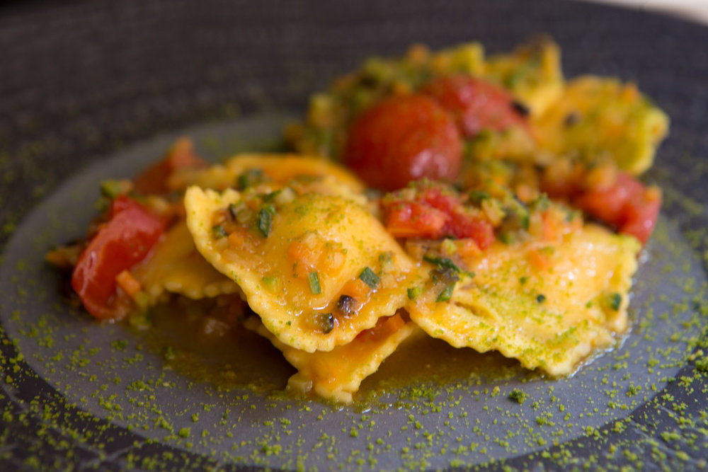 Homemade ravioli from Kunnbio