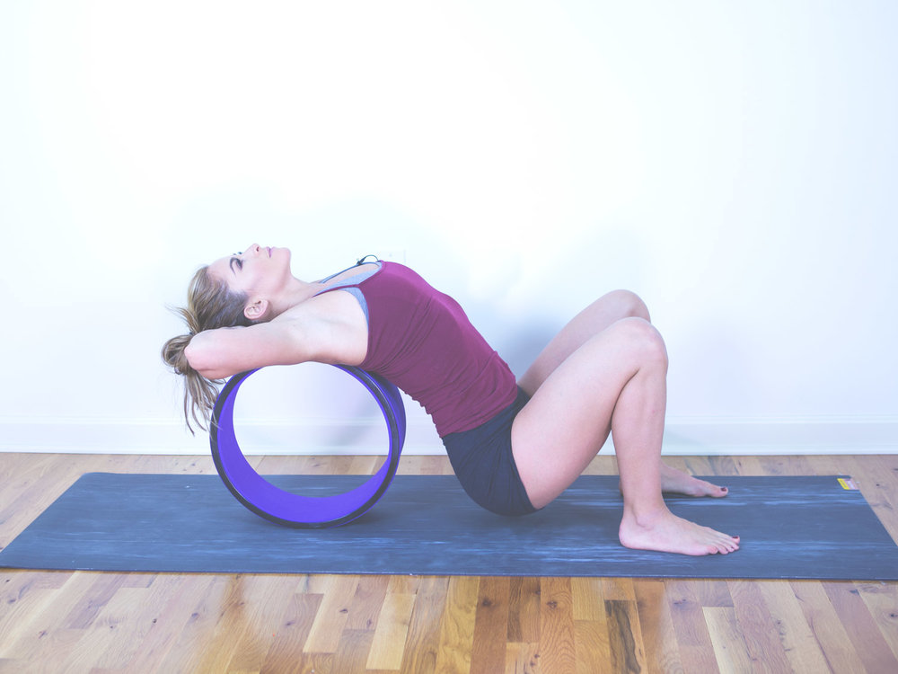 Quick chest opening yoga wheel video