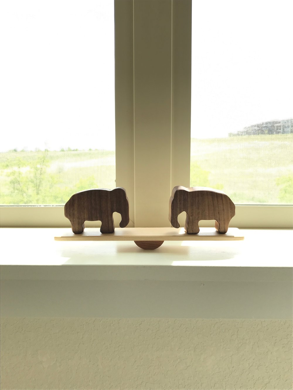 Elephant Balance Toy by  Manzanita Kids