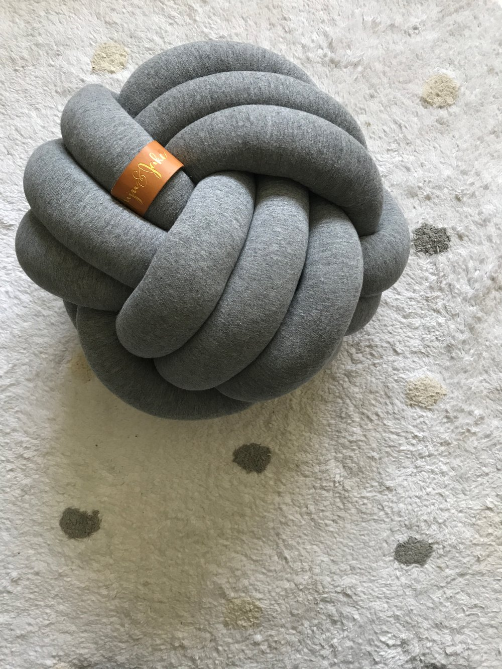 Knot Pillow by  Juju & Jake