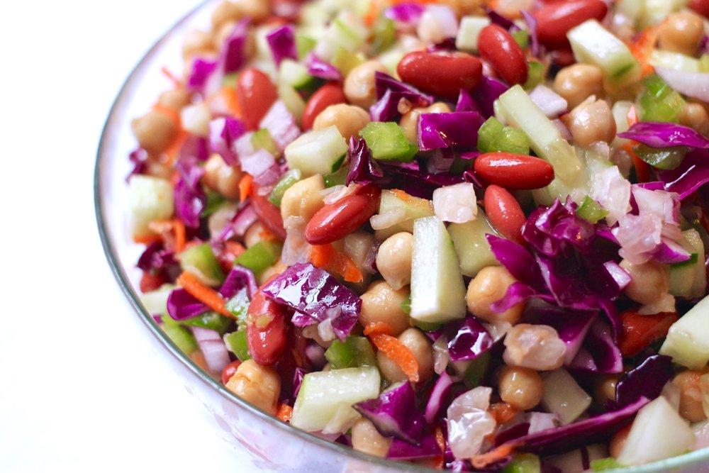 Bean & Sauerkraut Salad