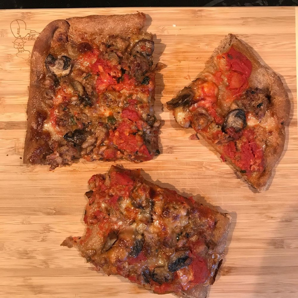 Sunday night- homemade pizza
