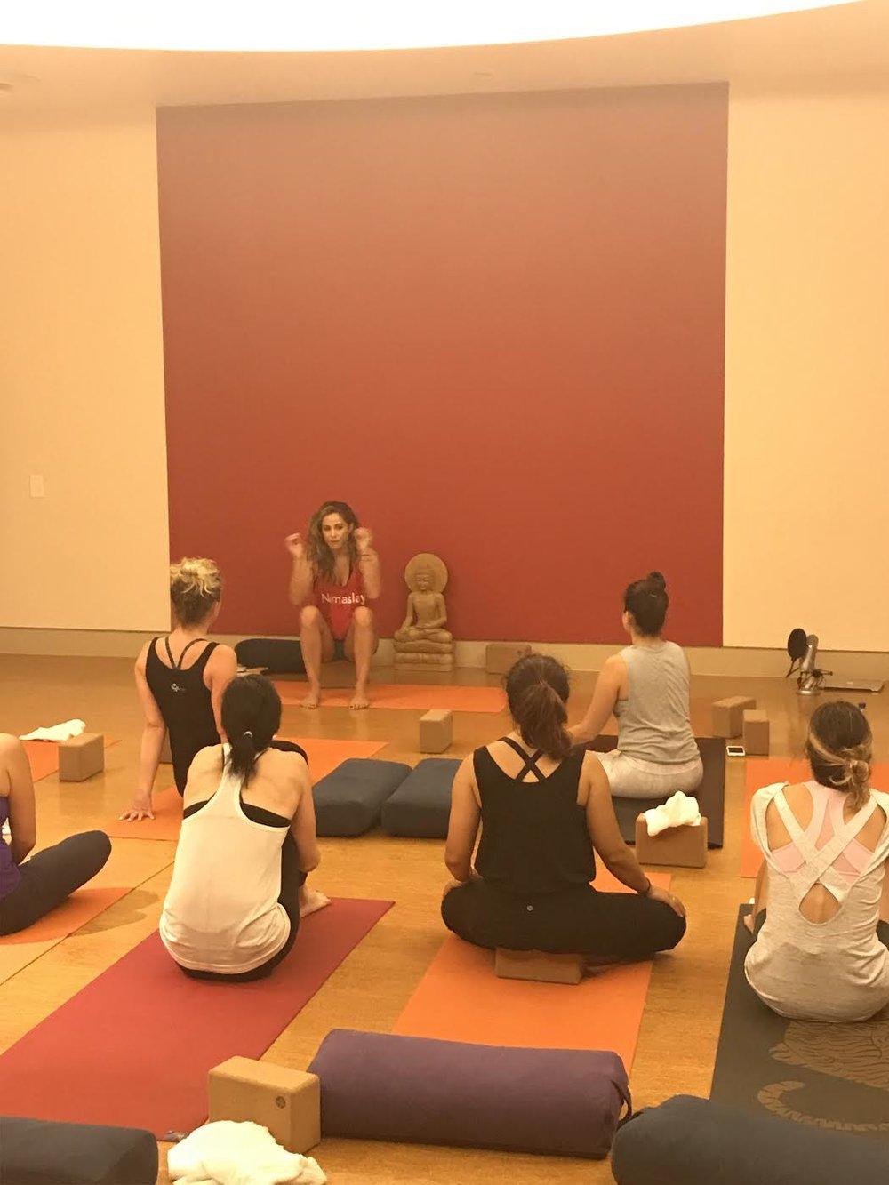 Teaching at Pure Yoga