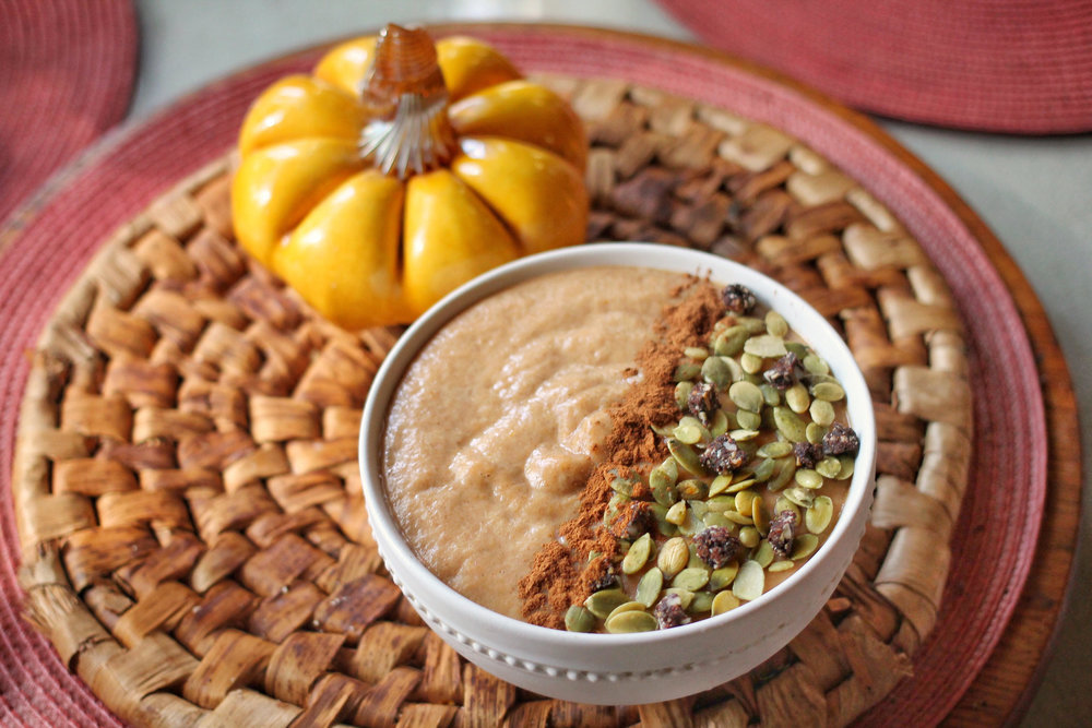Pumpkin Cauliflower Smoothie Bowl