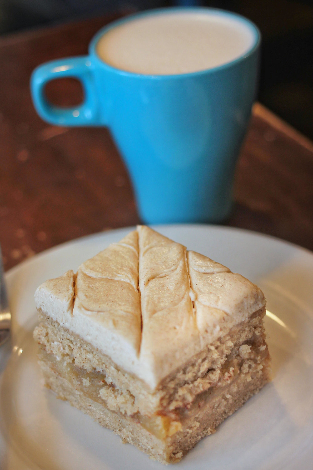 Apple Cider Doughnut Cake and Housemade Chai from Darling Coffee